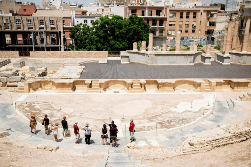 <span style='color:#780948'>ARCHIVED</span> - Agreement to excavate original entrance portico of the Roman Theatre in Cartagena