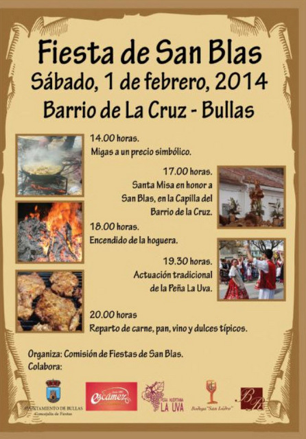 <span style='color:#780948'>ARCHIVED</span> - 1st February, Bullas celebrates San Blas