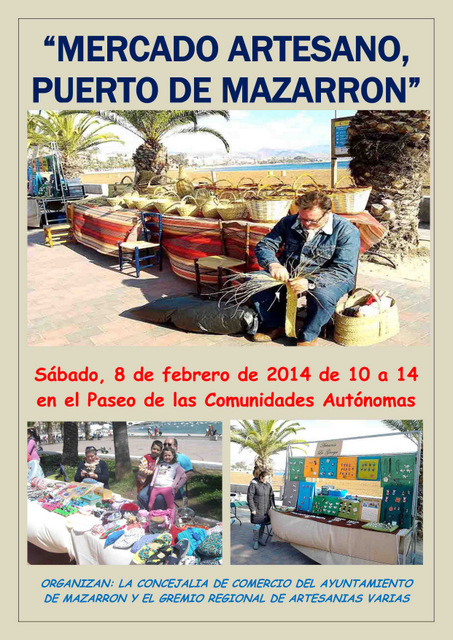<span style='color:#780948'>ARCHIVED</span> - 8th February, Puerto de Mazarron artisan market