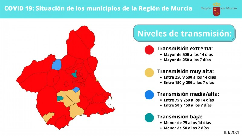 <span style='color:#780948'>ARCHIVED</span> - 36 municipalities of Murcia Region in confinement from midnight
