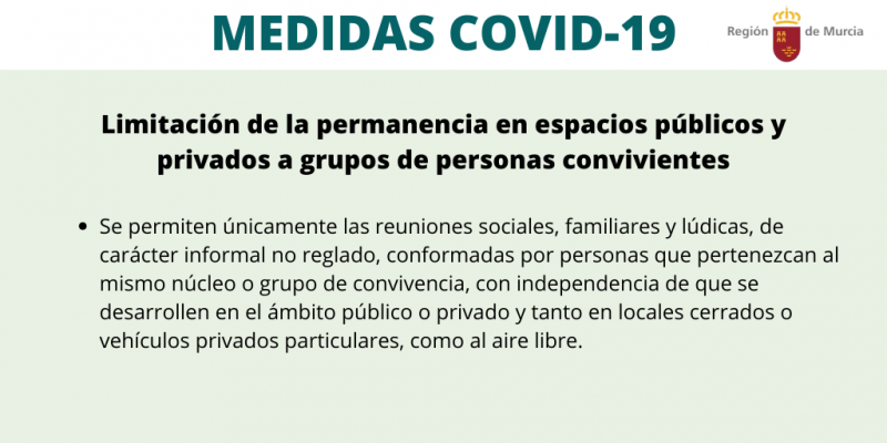 <span style='color:#780948'>ARCHIVED</span> - Murcia regional government publishes decree prohibiting social interaction in the BORM