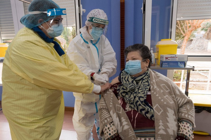 Second doses of Pfizer vaccine administered in the Murcia Region