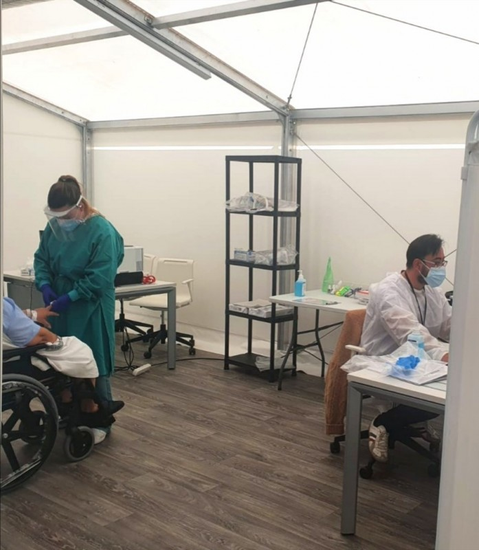 <span style='color:#780948'>ARCHIVED</span> - Alicante field hospital opens 80 additional beds for coronavirus patients