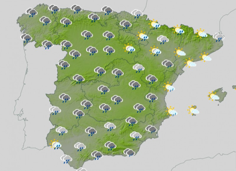 Rough weekend weather expected in most of Spain this weekend