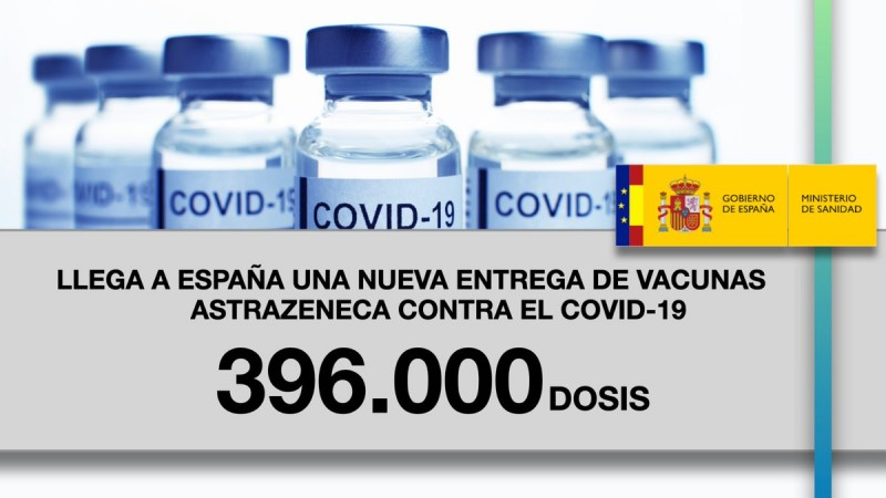 New 396,000-dose batch of AstraZeneca vaccine arrived in Spain on Thursday