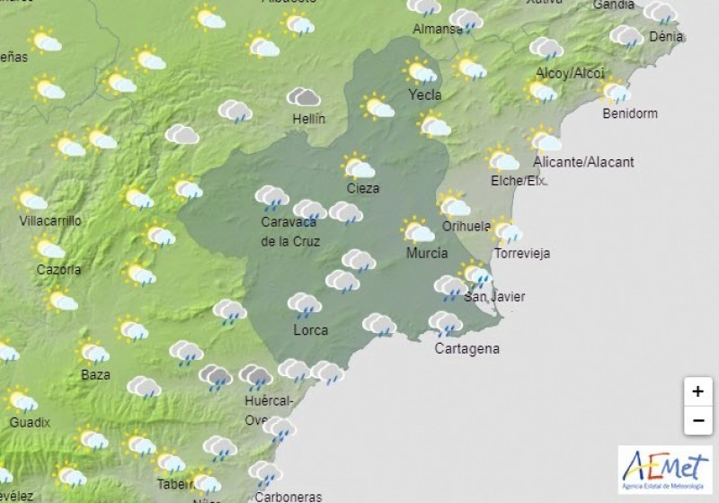Slightly cooler weekend ahead with possibility of rain on Sunday for Murcia Region