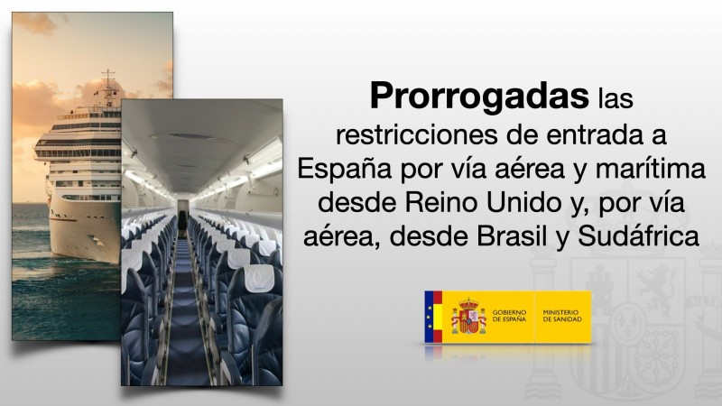 <span style='color:#780948'>ARCHIVED</span> - Spain maintains restrictions on travellers from UK, Brazil and South Africa until March 16th