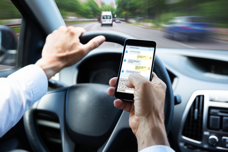 Six points as well as a fine if caught driving whilst holding a mobile phone in Spain