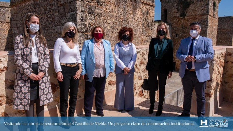<span style='color:#780948'>ARCHIVED</span> - More than a million euros to restore the medieval walls of Niebla in Huelva