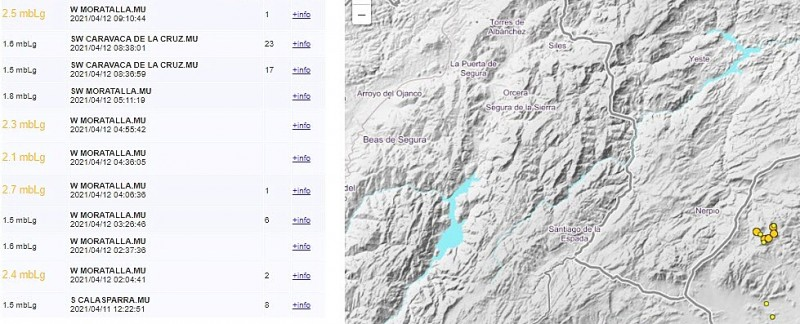 <span style='color:#780948'>ARCHIVED</span> - Series of earthquakes in the north-west of the Murcia region