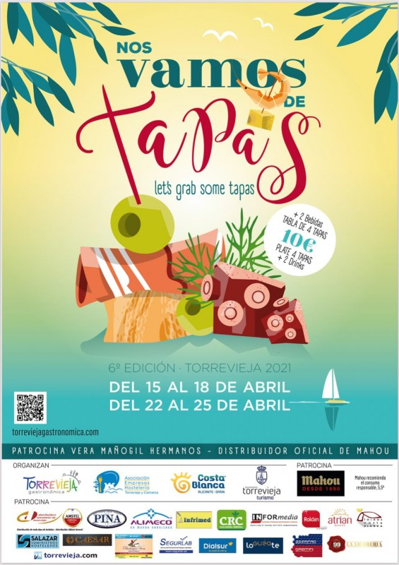 <span style='color:#780948'>ARCHIVED</span> - 6th edition of Nos vamos de tapas starts on Thursday April 15 in Torrevieja