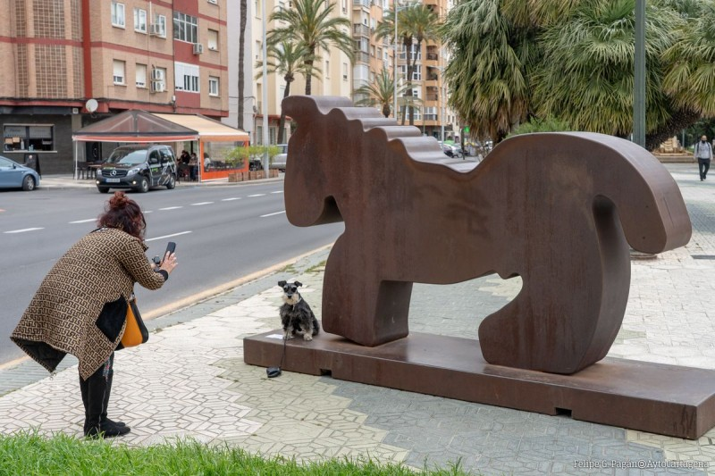 Until 5th July, Esculturas Monumentales by Juan Méjica, open-air sculpture exhibition in Cartagena