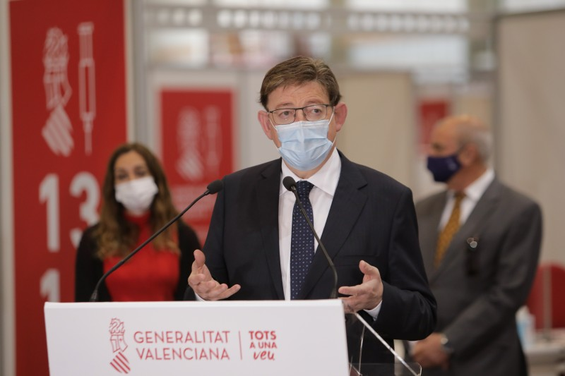<span style='color:#780948'>ARCHIVED</span> - Regional president announces over 400,000 more Covid vaccines will reach Valencia region this week