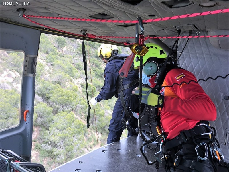Injured walker airlifted from Sierra de Columbares in Murcia