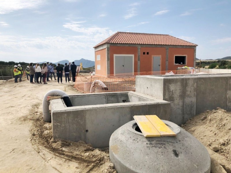 New Mazarron waste water treatment plant in Majada proceeding well
