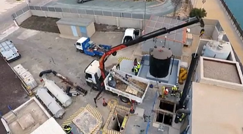 Work under way to improve wastewater pumping facility in La Manga