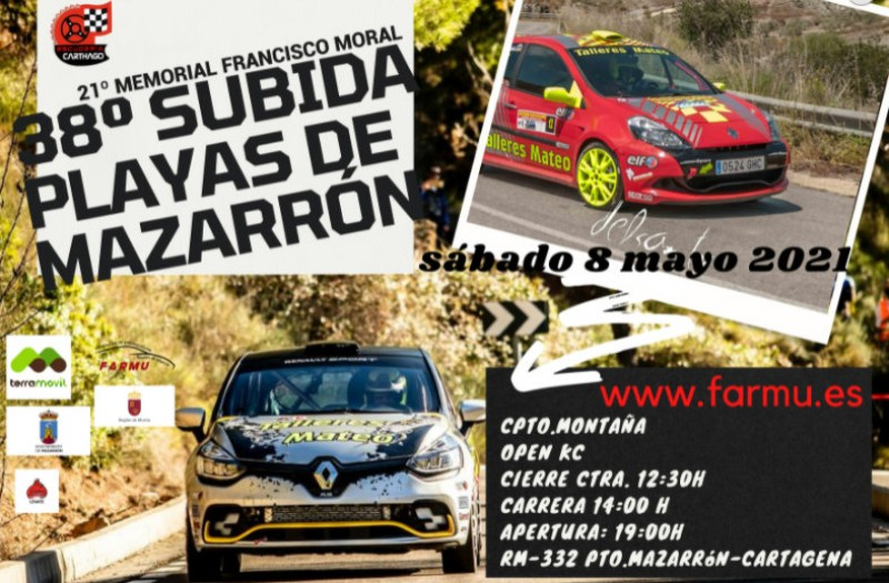 Saturday 8th May, Mazarrón rallysprint: the 38th Subida Playas de Mazarrón