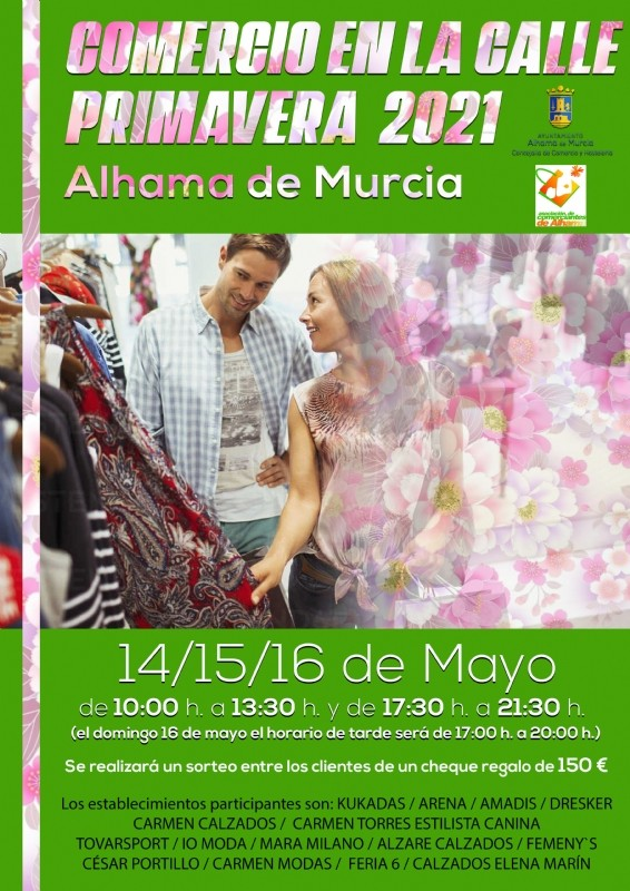 Alhama de Murcia shops take to the streets in Comercio en la Calle 2021 May 14-16