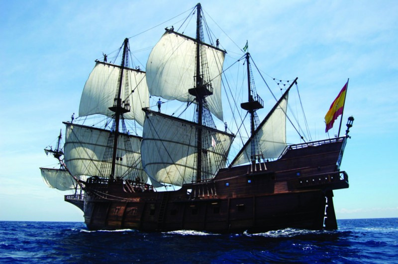 Until 16th May visit a replica 17th century galleon in the port of Cartagena