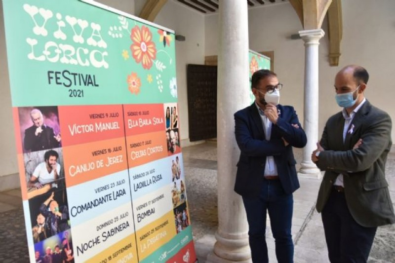 First edition of Viva Lorca music festival in Lorca July 9 to September 25
