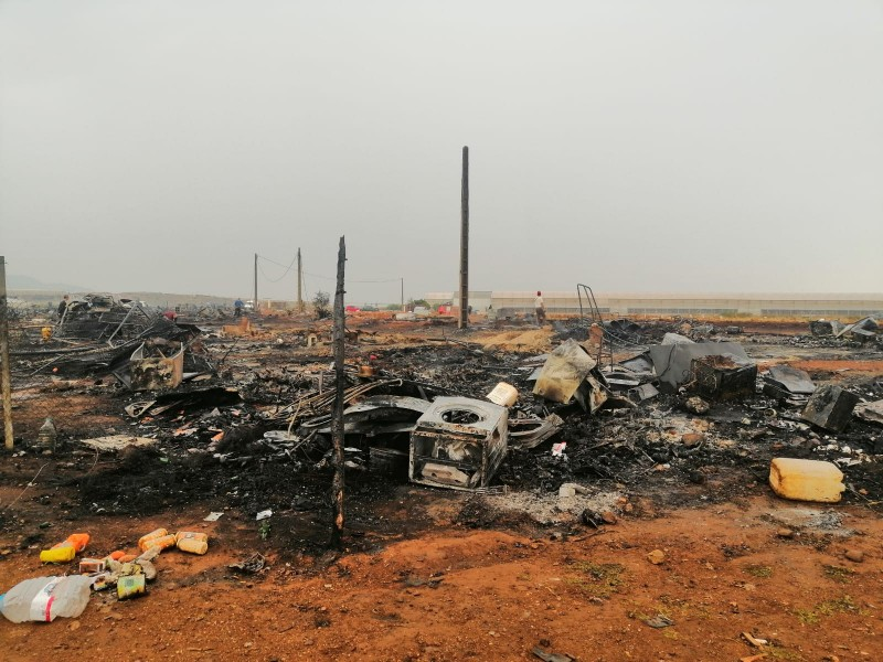 <span style='color:#780948'>ARCHIVED</span> - Fire at Almeria migrant camp was intentional say police