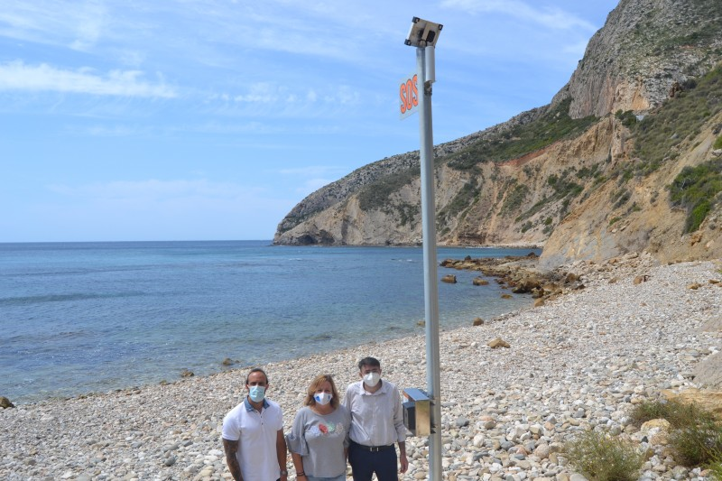 <span style='color:#780948'>ARCHIVED</span> - Emergency SOS phone installed at Calpe beach