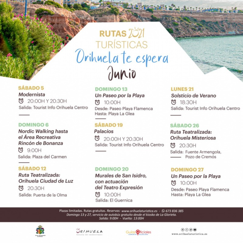 <span style='color:#780948'>ARCHIVED</span> - Free tours of Orihuela and its coastline during June