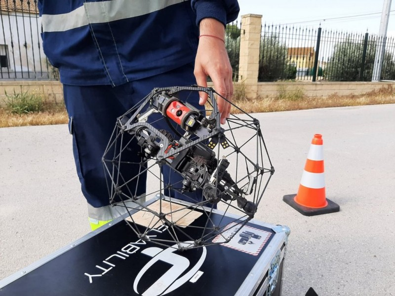 <span style='color:#780948'>ARCHIVED</span> -  Adapted drones to inspect Lorca sewer system