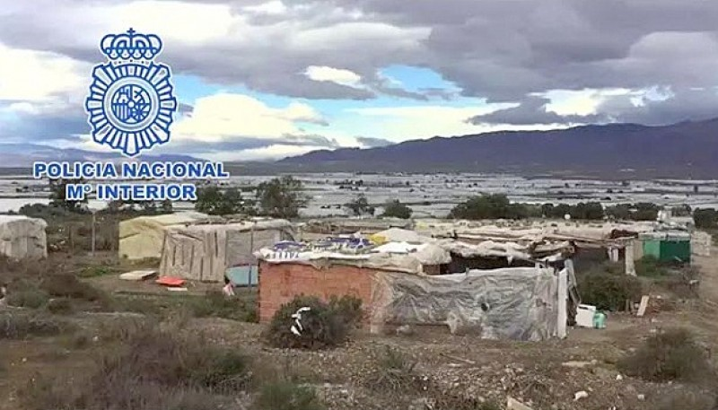 Man arrested for charging illegal immigrants to live in Almeria slum encampments