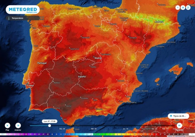 <span style='color:#780948'>ARCHIVED</span> - Spain to swelter in temperatures of up to 40 degrees Celsius this week
