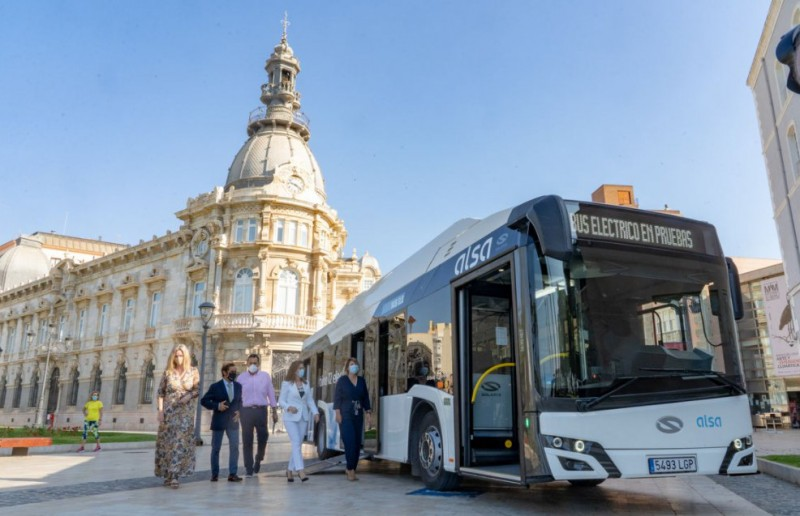 Cartagena presents its first fully electric bus