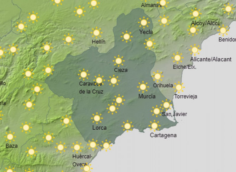 <span style='color:#780948'>ARCHIVED</span> - Summer under way in the Costa Cálida with temperatures set to reach 35 degrees