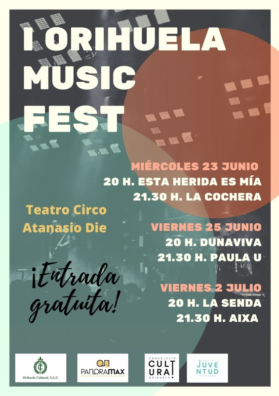 <span style='color:#780948'>ARCHIVED</span> - First edition of Orihuela Music Fest June 23 to July 2