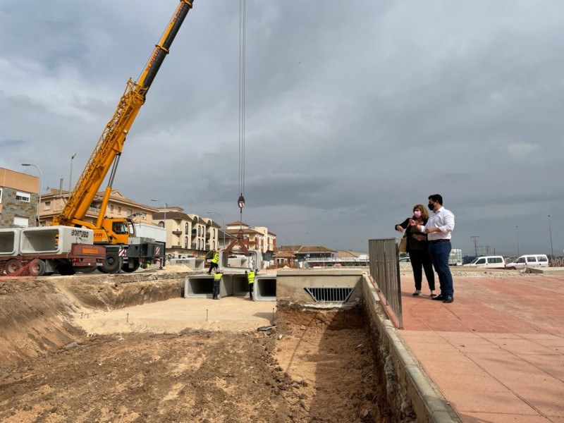 <span style='color:#780948'>ARCHIVED</span> - Major flood-prevention project in San Javier to be completed by the end of July