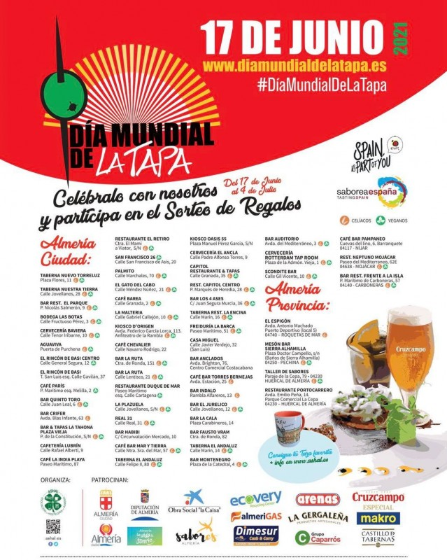 <span style='color:#780948'>ARCHIVED</span> - Almeria World Tapas Day continues until July 4 2021