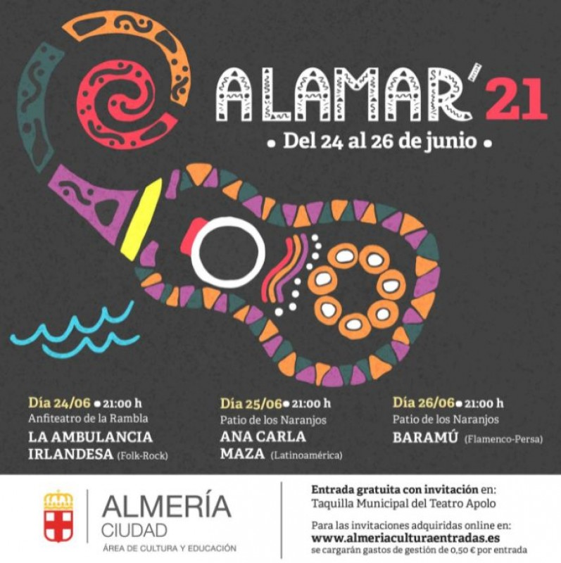 <span style='color:#780948'>ARCHIVED</span> - Three free concerts; Alamar music festival in Almería on June 24-26