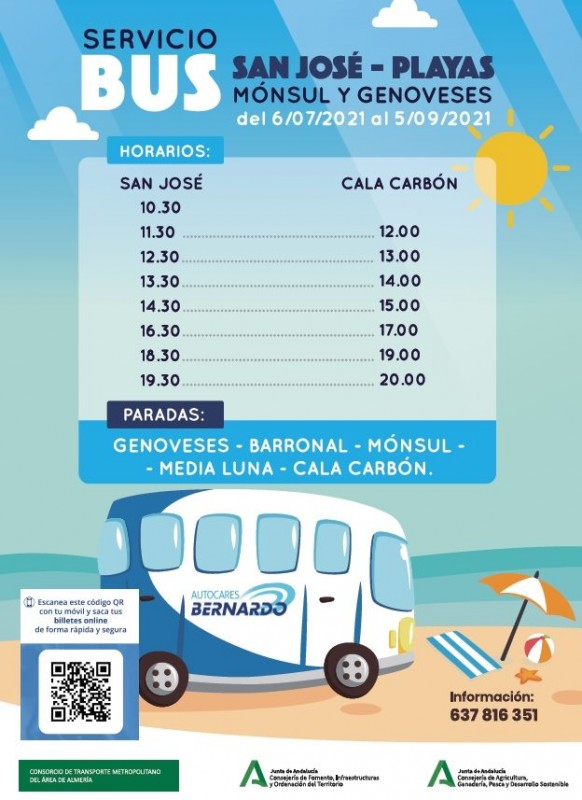 <span style='color:#780948'>ARCHIVED</span> - Cabo de Gata beach shuttle service gets going for the summer season