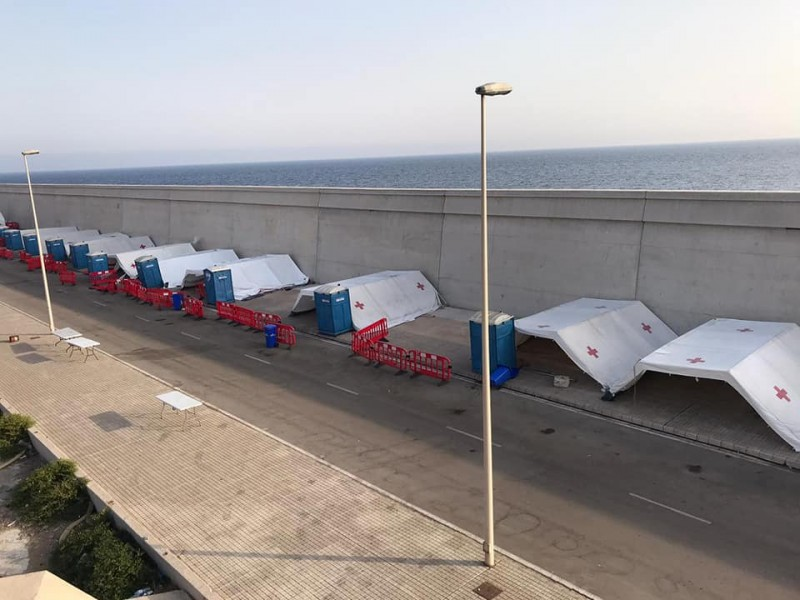 <span style='color:#780948'>ARCHIVED</span> - Works begin on a new illegal immigrant centre in Cartagena to replace temporary structures