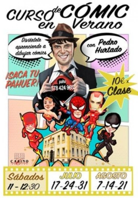 Comic book drawing classes at Aguilas Casino this summer