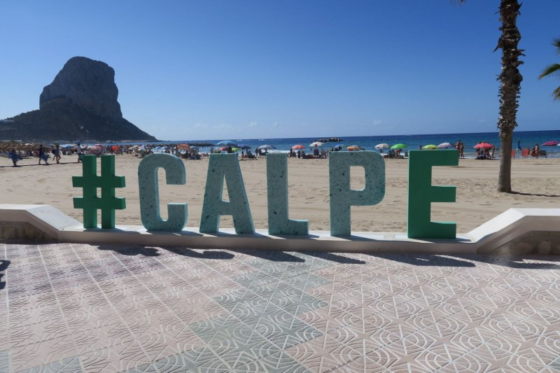 <span style='color:#780948'>ARCHIVED</span> - Sign made from plastic dragged from Mediterranean sea erected at Calpe beach