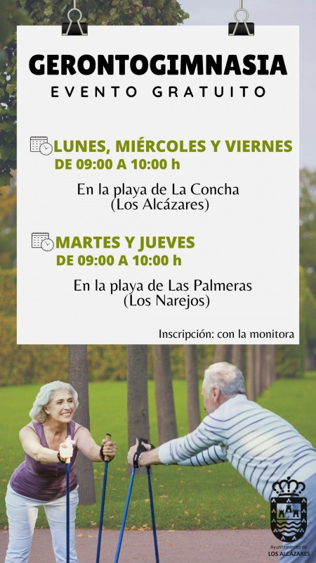 <span style='color:#780948'>ARCHIVED</span> - Free keep fit classes for the more mature in Los Alcázares this summer