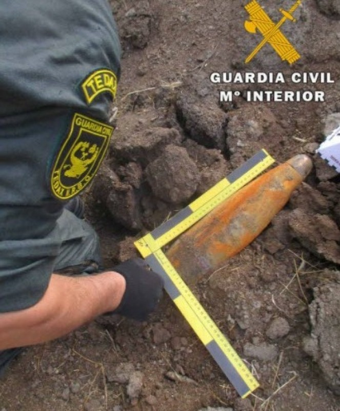 <span style='color:#780948'>ARCHIVED</span> - Civil war projectile found in Jaen bullring