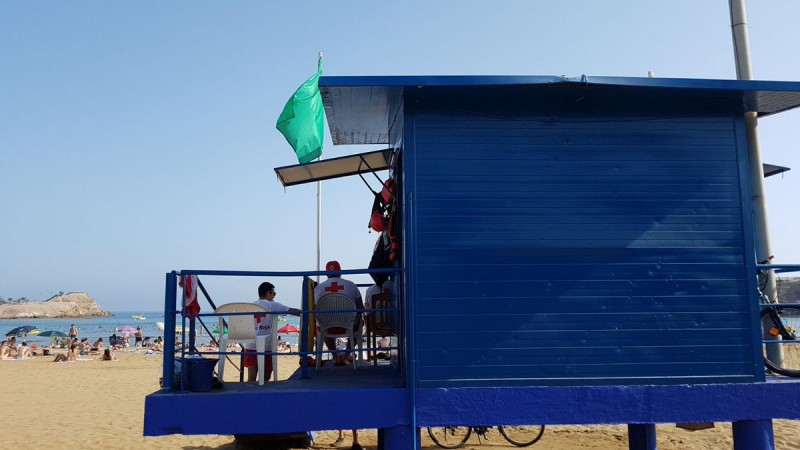 <span style='color:#780948'>ARCHIVED</span> - All beaches in Murcia region flying green flags today including Playa Puerto in Mazarron