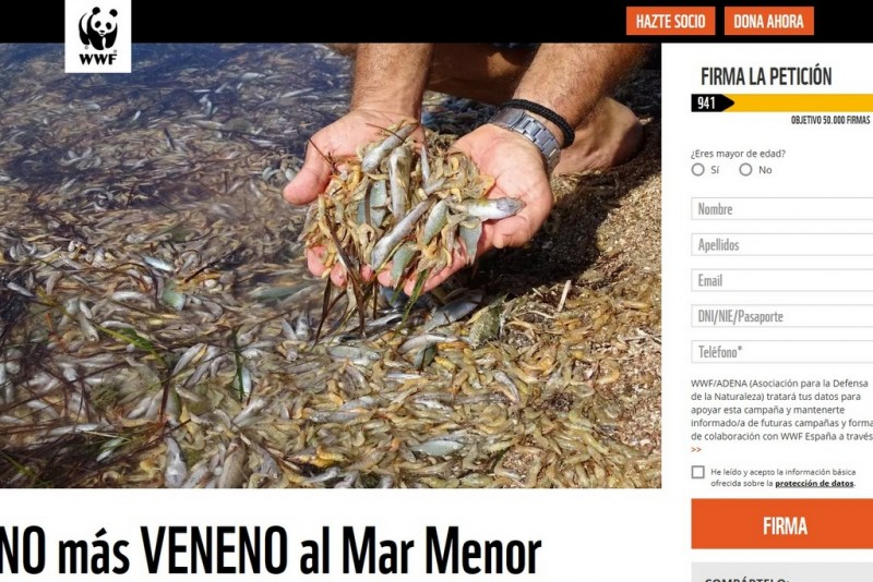 <span style='color:#780948'>ARCHIVED</span> - ANSE and WWF petition calling for preventative measures in the Mar Menor