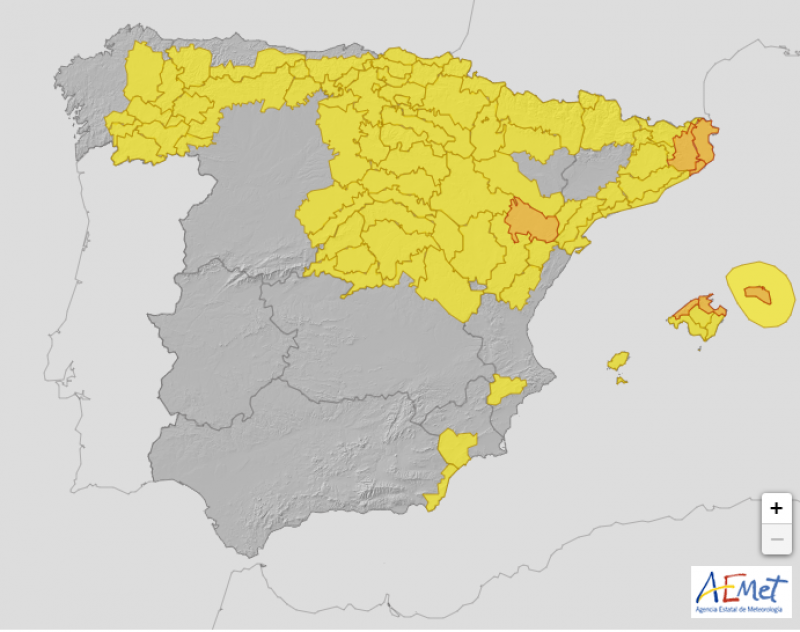 <span style='color:#780948'>ARCHIVED</span> - Spain weather update September 2: 15 areas on alert for rain and storms