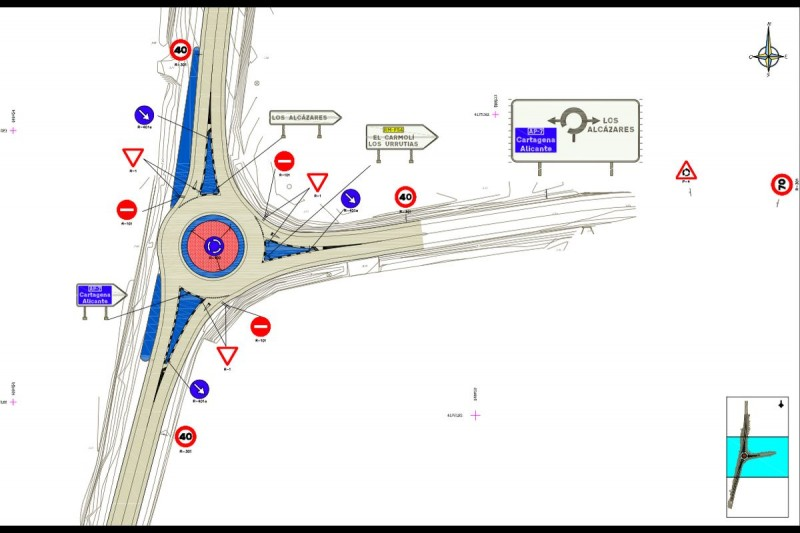 <span style='color:#780948'>ARCHIVED</span> - New roundabout will improve road safety between El Carmoli and Los Urrutias