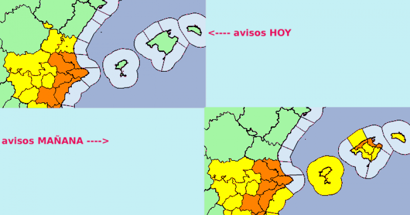 <span style='color:#780948'>ARCHIVED</span> - Orange alert for storms in Alicante: Monday September 20