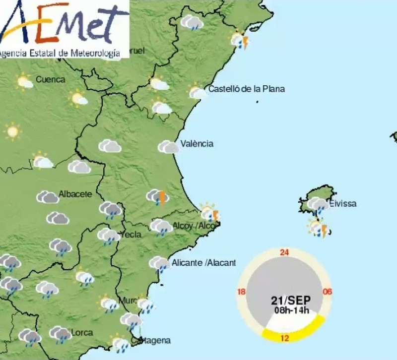 <span style='color:#780948'>ARCHIVED</span> - Heavy rain and storms expected in Alicante and much of Spain