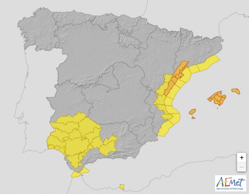 <span style='color:#780948'>ARCHIVED</span> - DANA puts five communities in Spain on alert for storms