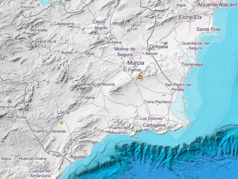 Earthquake in Murcia yesterday was strong enough to be felt